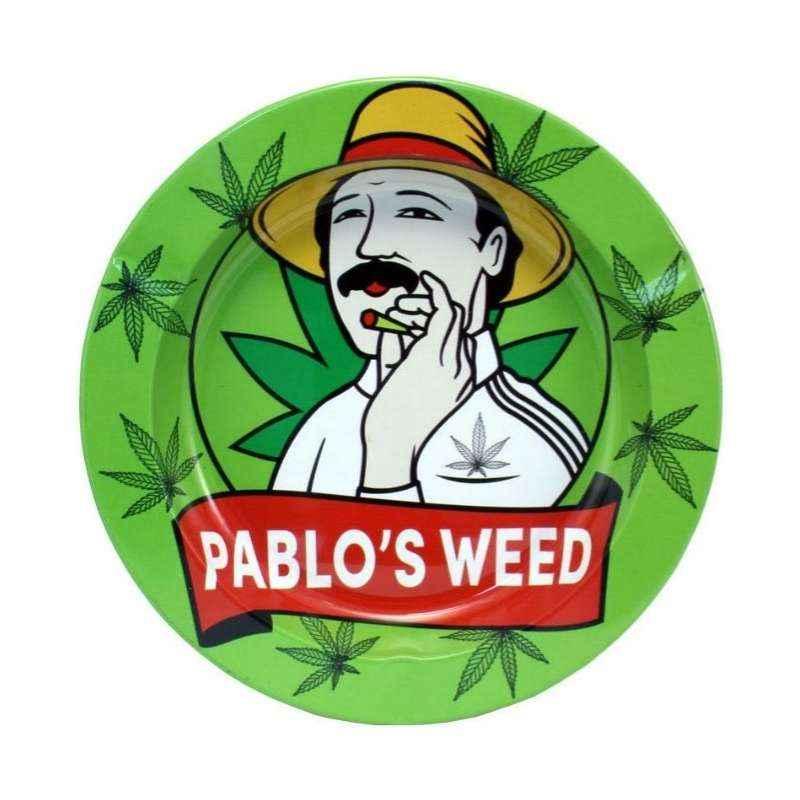 Imagen del cenicero Pablo´s weed en alusión al conocido narco.