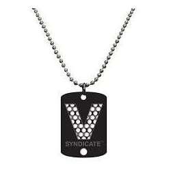 """Collar grinder """"V"""" en negro"""