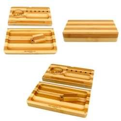Bandeja y caja Raw Bamboo...
